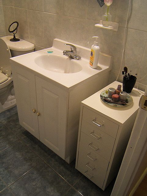 Bathroom organization Ikea HELMER drawer unit on castors & Week Eight | Pinterest | Drawer unit Bathroom storage and Drawers