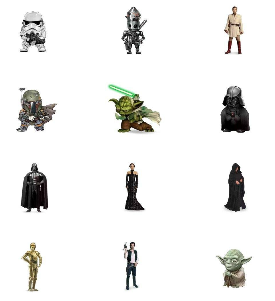 Star Wars Whatsapp Sticker Pack Star Wars Stickers Star Wars Film Star Wars