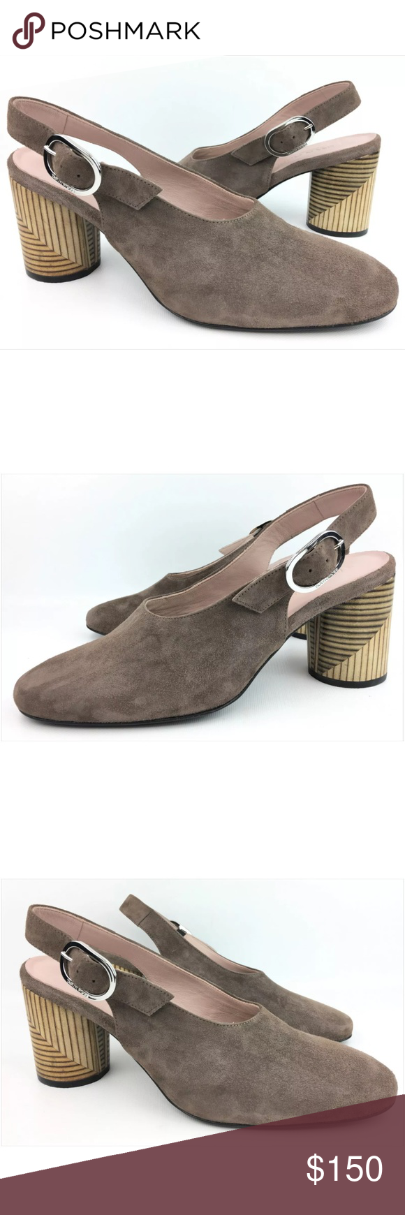 318f8c3b6c9 Taryn Rose Fabiola Taupe Suede Slingback Pumps Used in great condition.  Shoes have minor dirty marks or spots. Actual pictures. Original box not  included.