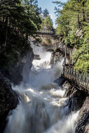 High Falls Gorge Whiteface Region Adirondack Ny Road