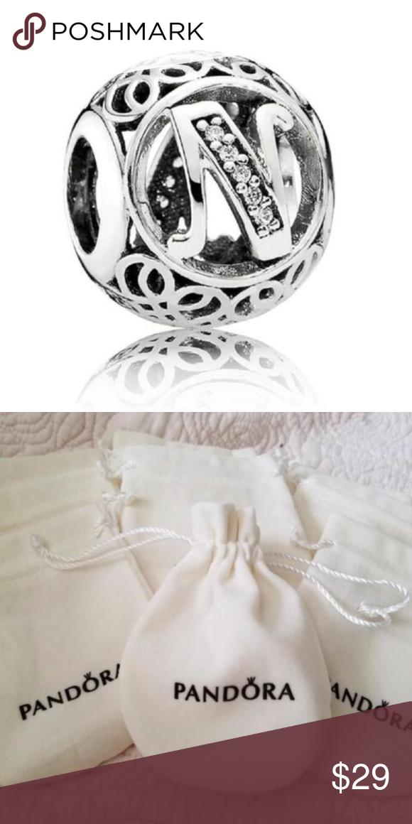 Authentic Pandora Letter N Vintage Alphabet Letter Letter Charms Pandora Jewelry Pandora
