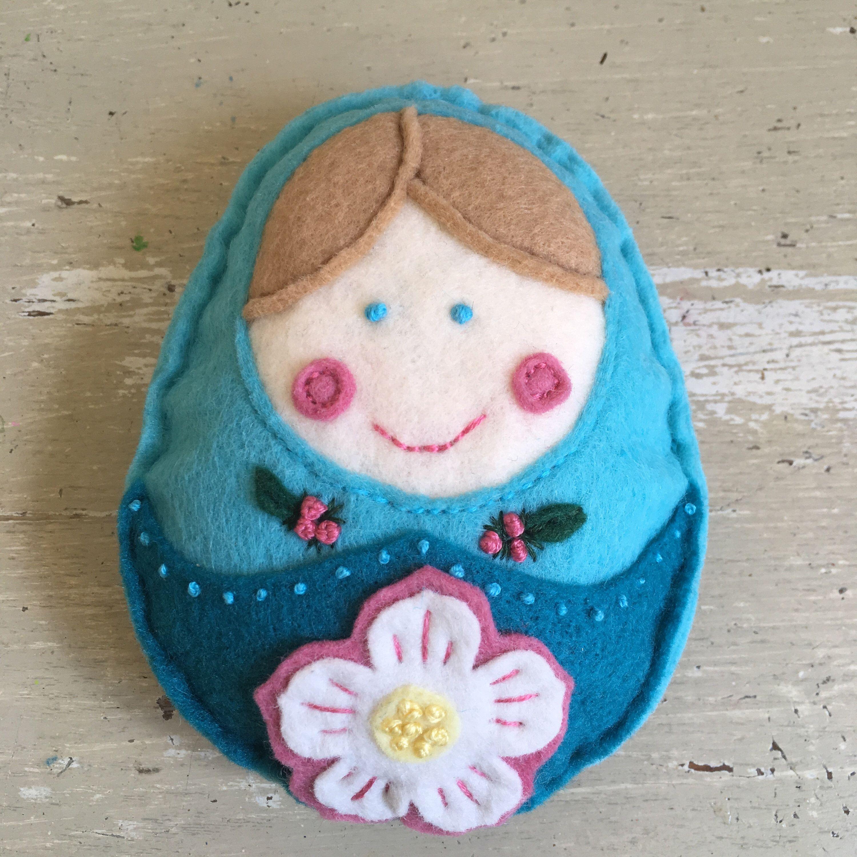 Handmade Felt Doll, Infant, Toddler Gift, Baby, Russian