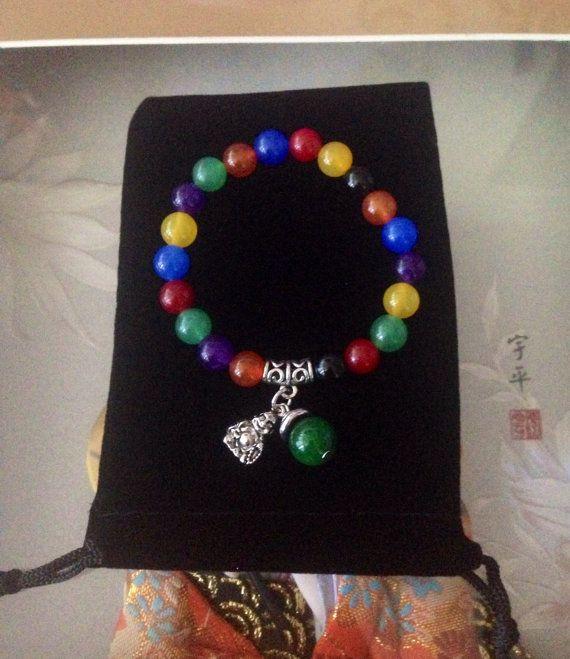 Chakra bracelet healing meditation yoga by TriquetraBoutique