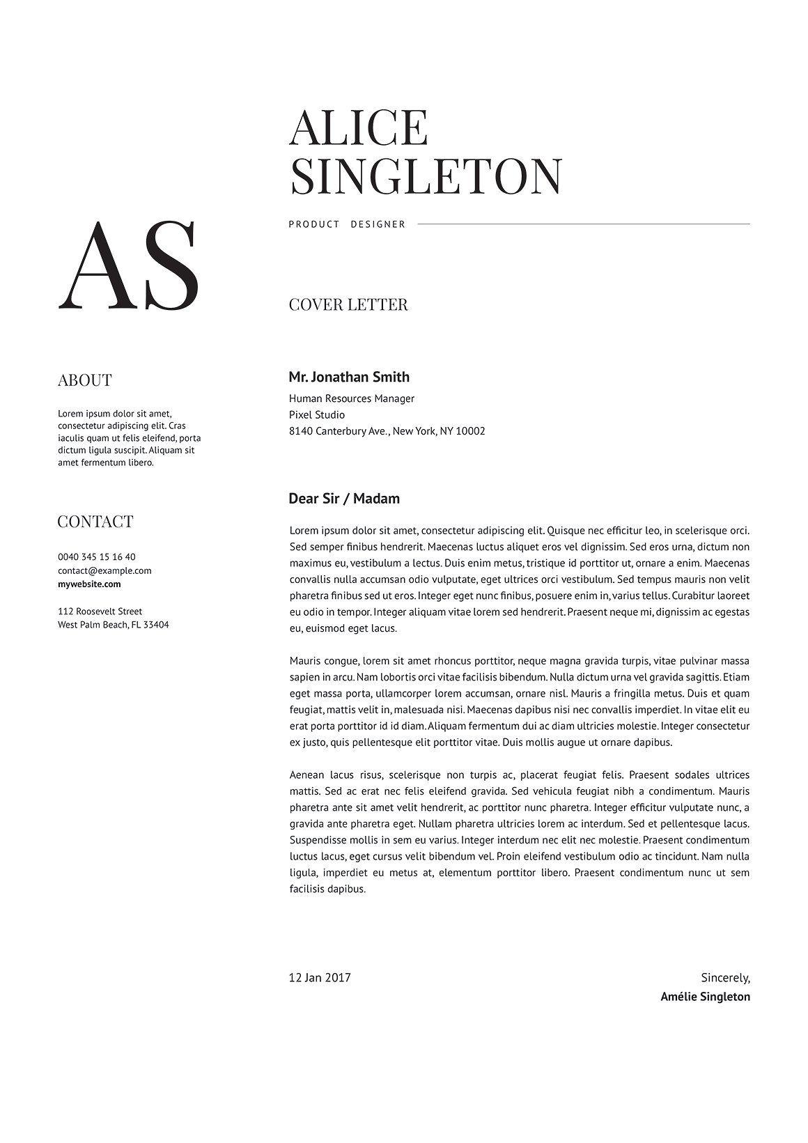 Elegant resume editable resume resume cover letter