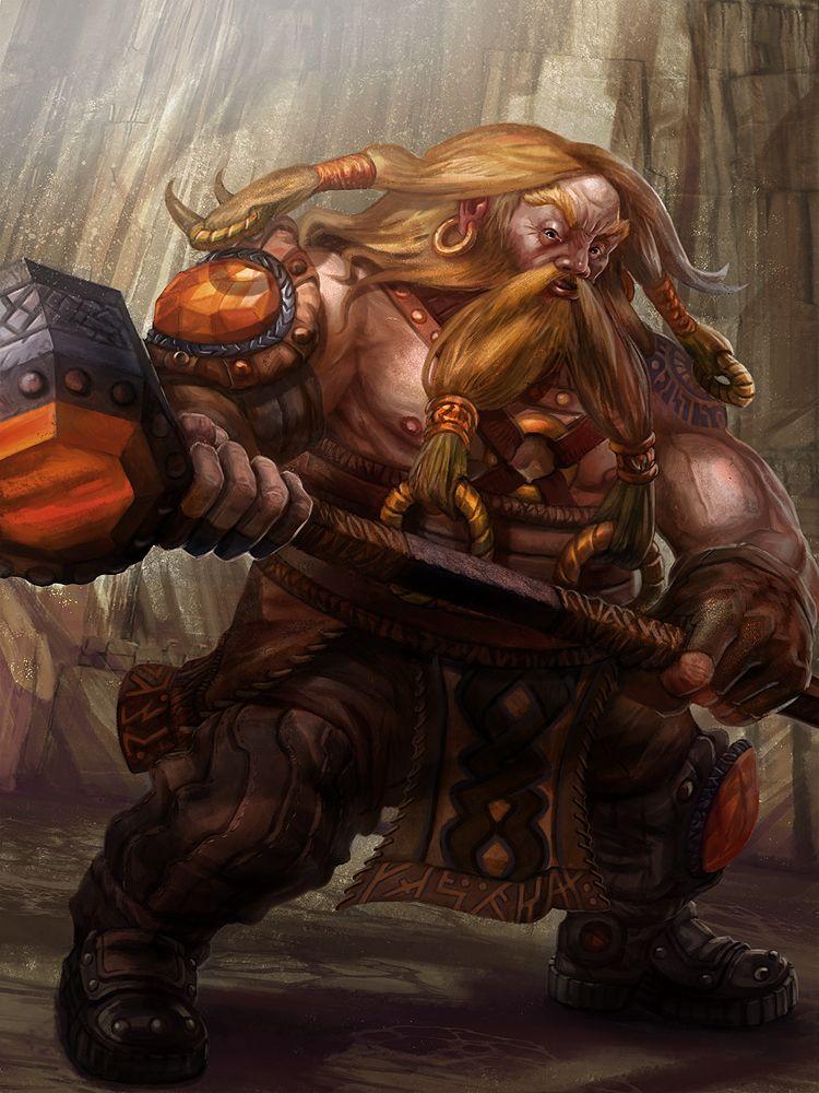 Dwarf Warrior Level 1 by jubjubjedi.deviantart.com on @DeviantArt