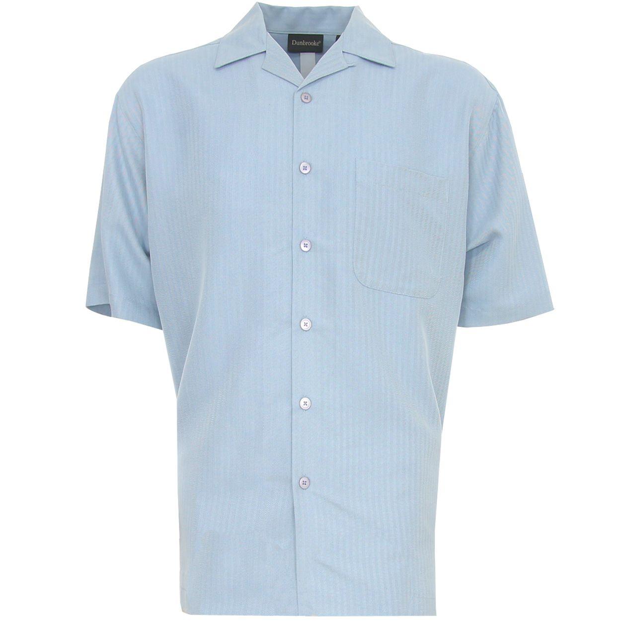 Dunbrooke-Manga-Corta-De-Botones-Para-Hombre-Casual-Camisa-Nuevo