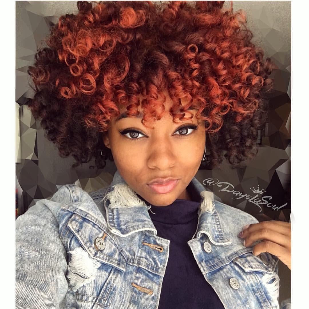 blood orange color natural hair