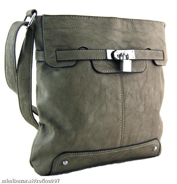 Crossbody kabelka se zámečkem S0708 sivá