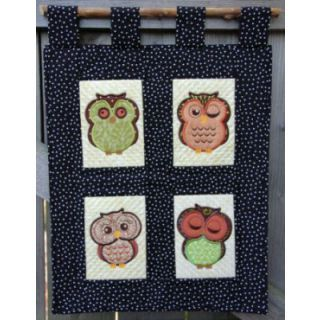 """Applique Designs :: Cute Owls - Embroidery Garden   Unique """"in the hoop"""" machine embroidery design files"""