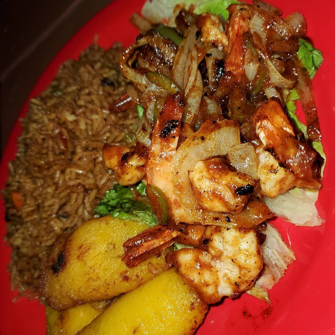 Jerk shrimp....... YUM!!! . . . . Jerk shrimp....... YUM!!! . . . .
