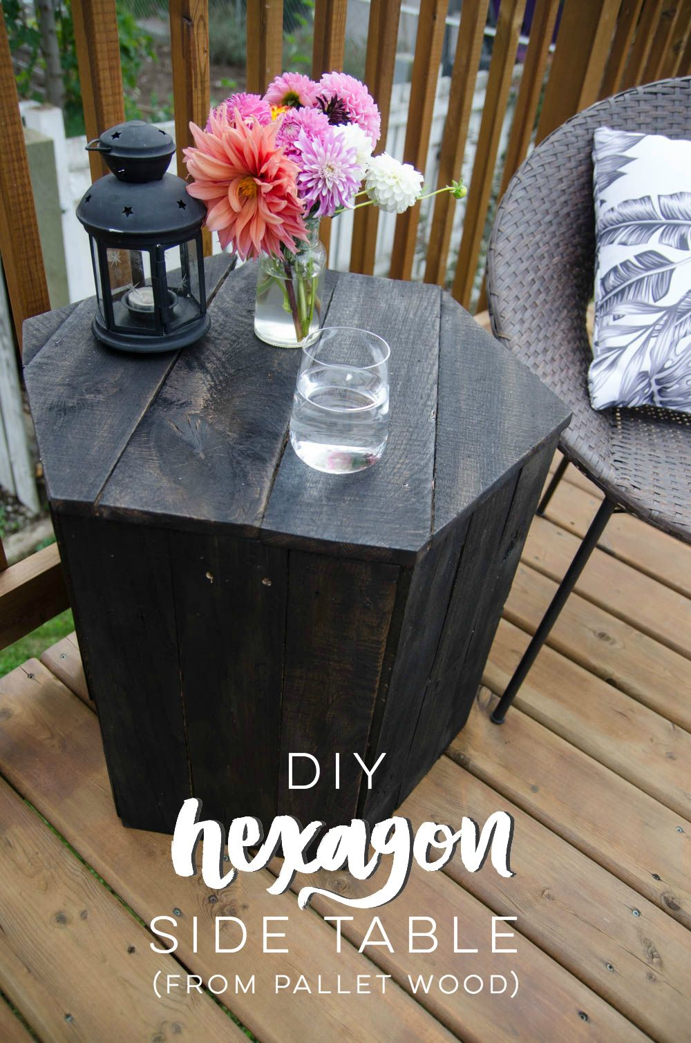 DIY Hexagon Side Table: Pallet Challenge | Diy meubles de ...