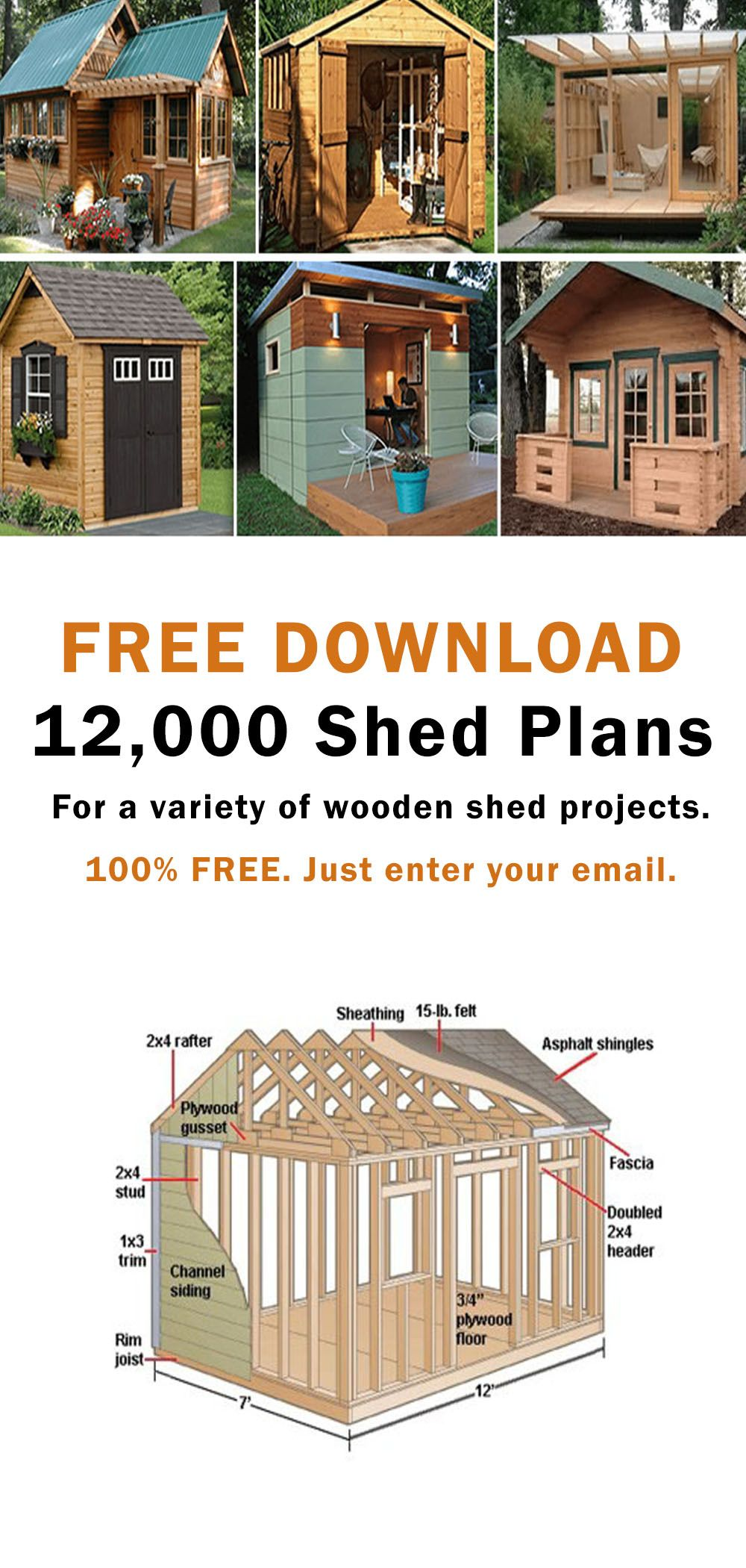 Download free woodworking shed plans