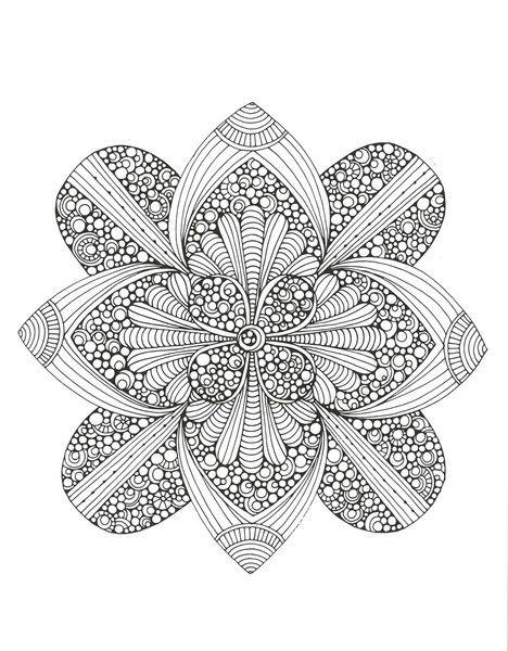 Creative Coloring Mandala Expressions Adult Coloring and Activity