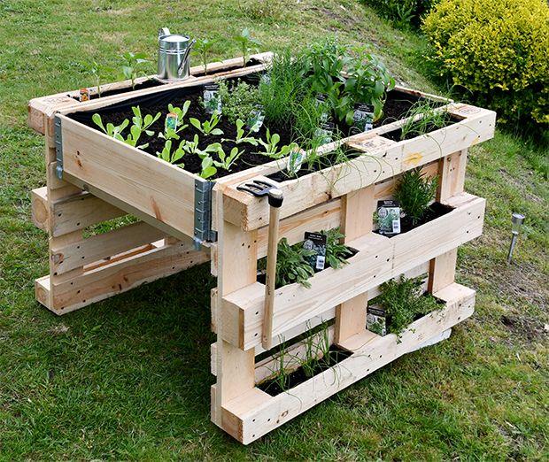 Palettenhochbeet Selber Bauen Selber Bauen Garten Garten Hochbeet Paletten Garten