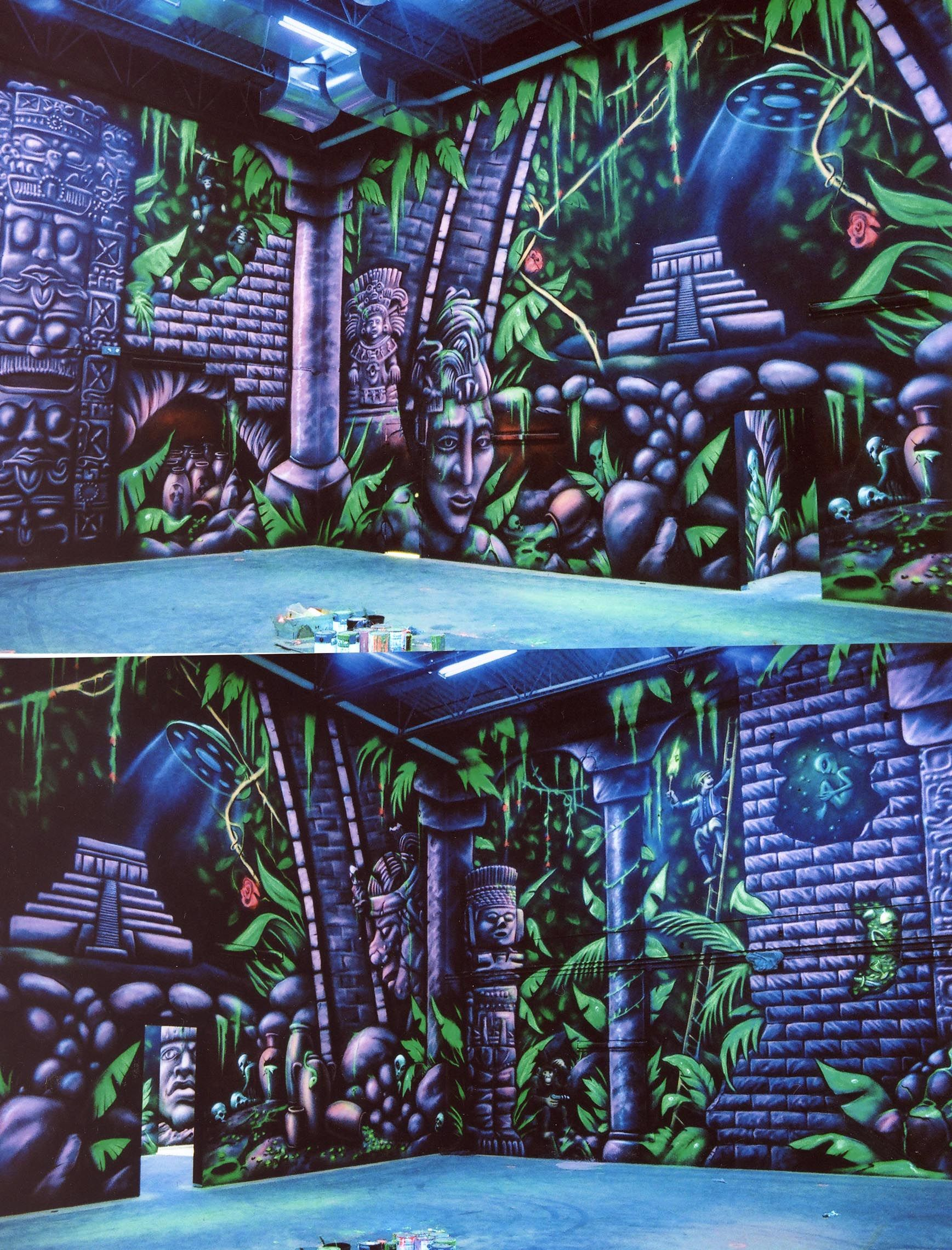 Graffiti wall training - Mural Theming We Did At A Family Entertainment Center This Is The Walls Inside The