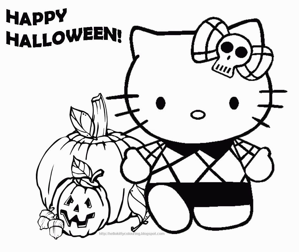 Peppa Pig Coloring Pages Halloween Through The Thousand Pictures Online In Relation To Hello Kitty Coloring Hello Kitty Colouring Pages Hello Kitty Halloween