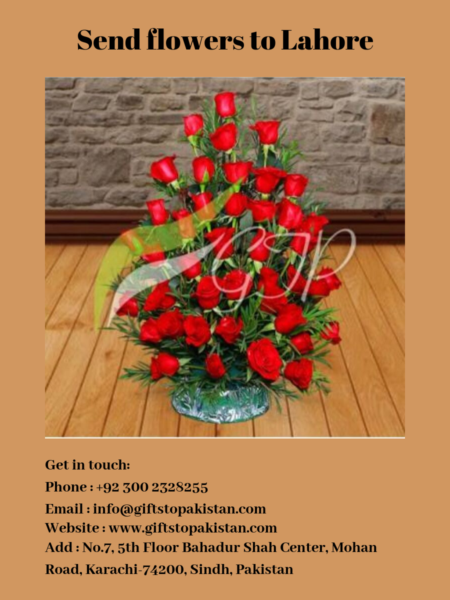 If Anyone Wants To Send Flowers To Lahore Just Chill And