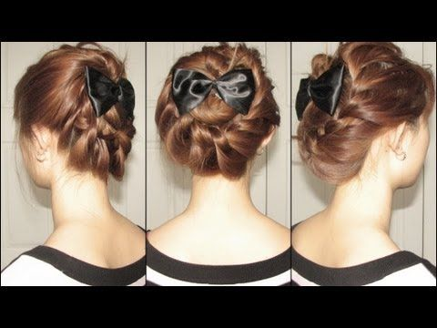 This hairstyle is very pretty and the channel this is on has great tutorials.