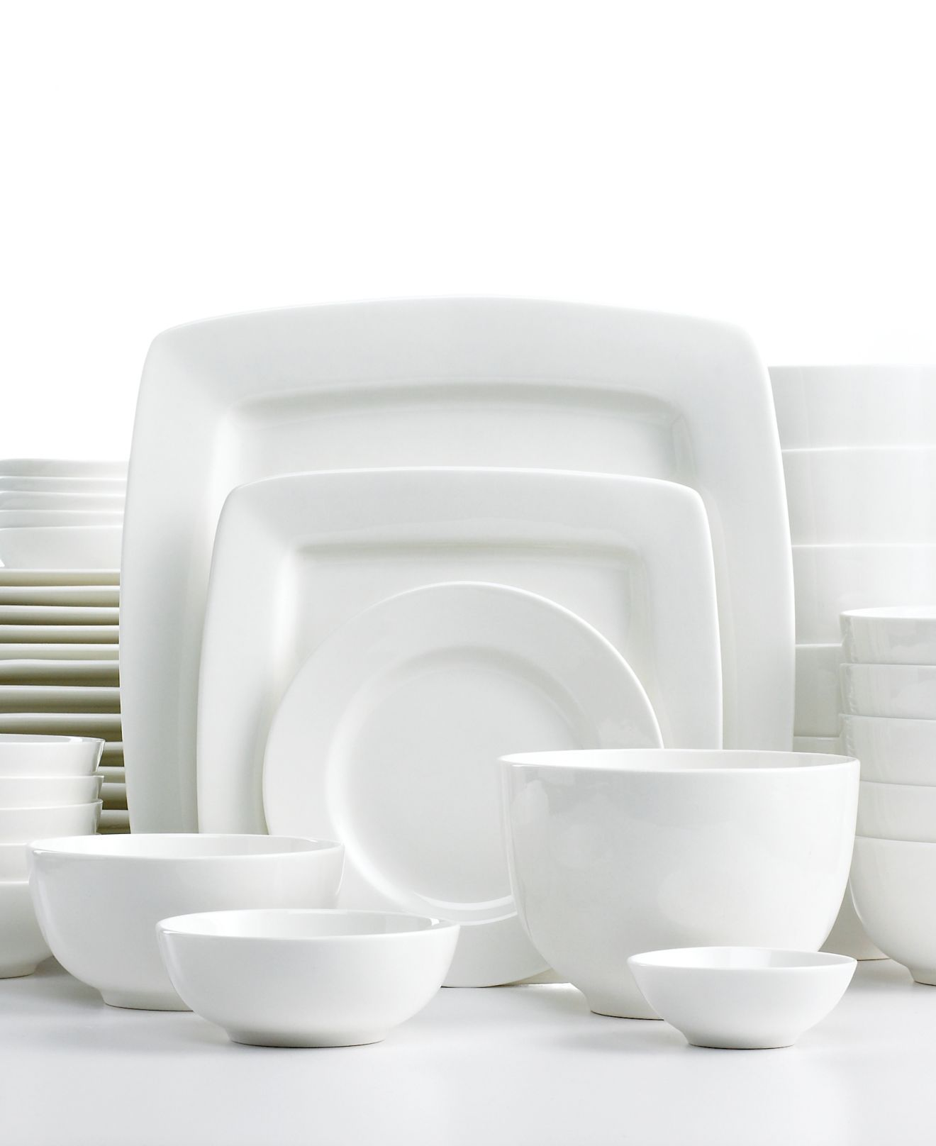 White elements dinnerware cressida square 42 piece set casual dinnerware dining s