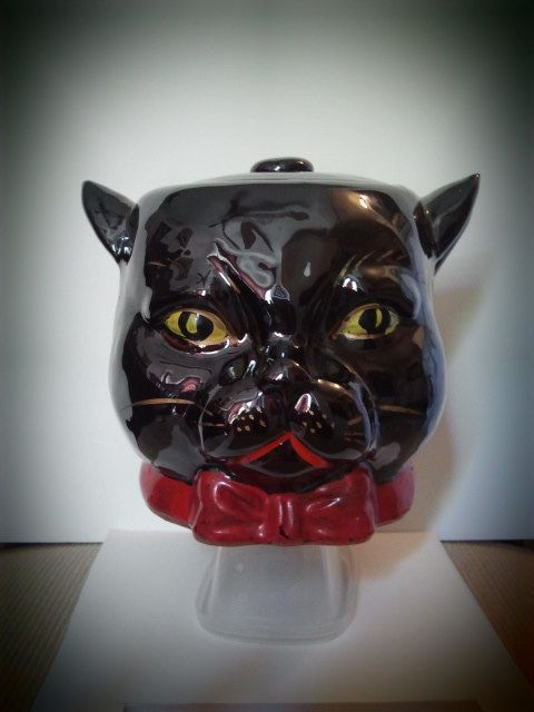 1950's Shafford Black Cat Cookie Jar