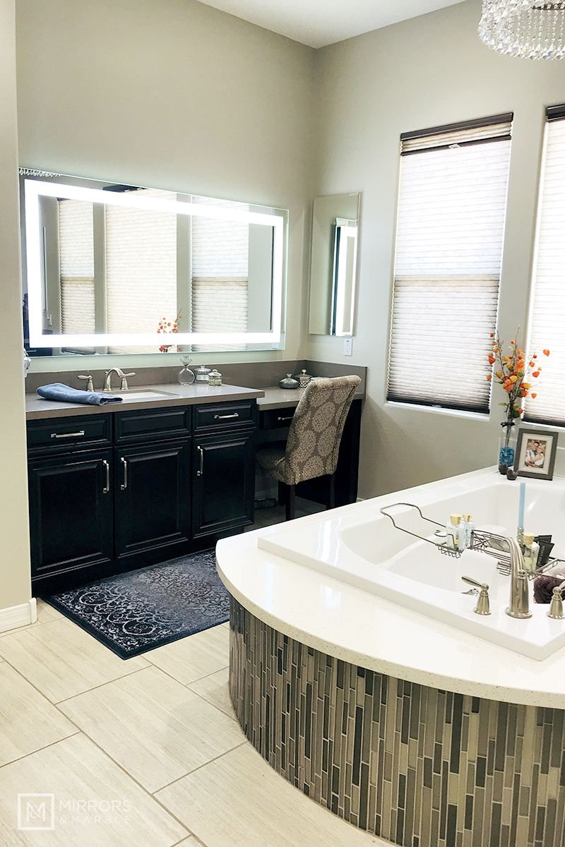 Front Lighted Led Bathroom Vanity Mirror 72 X 36 Rectangular Wall Mounted