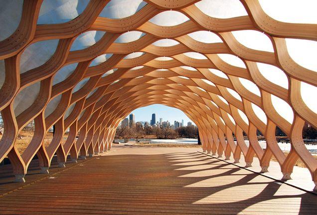 strong architectural boardwalk - nature boardwalk, chicago