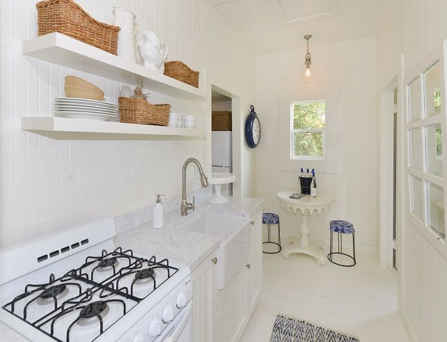 Small Cottage With Coastal White Interiors Home Bunch An Interior Design Luxury Homes B Small White Kitchens Small Cottage Interiors White Kitchen Rustic