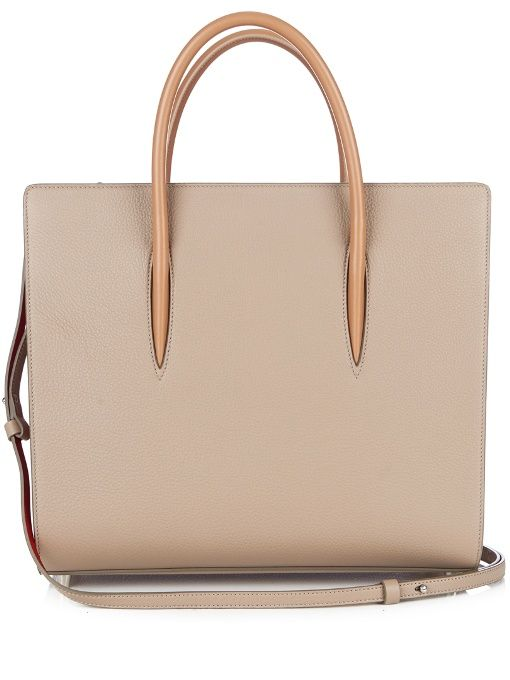 CHRISTIAN LOUBOUTIN Paloma large leather tote. #christianlouboutin #bags #tote #patent #lining #shoulder bags #suede #hand bags #