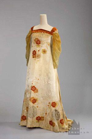 Abendkleid Reform Jugendstil  Um 1903/05