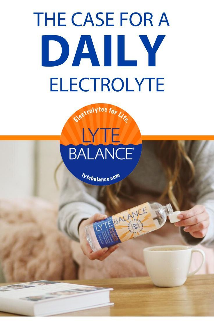 The Case for a Daily Electrolyte Do you feel worn out, run