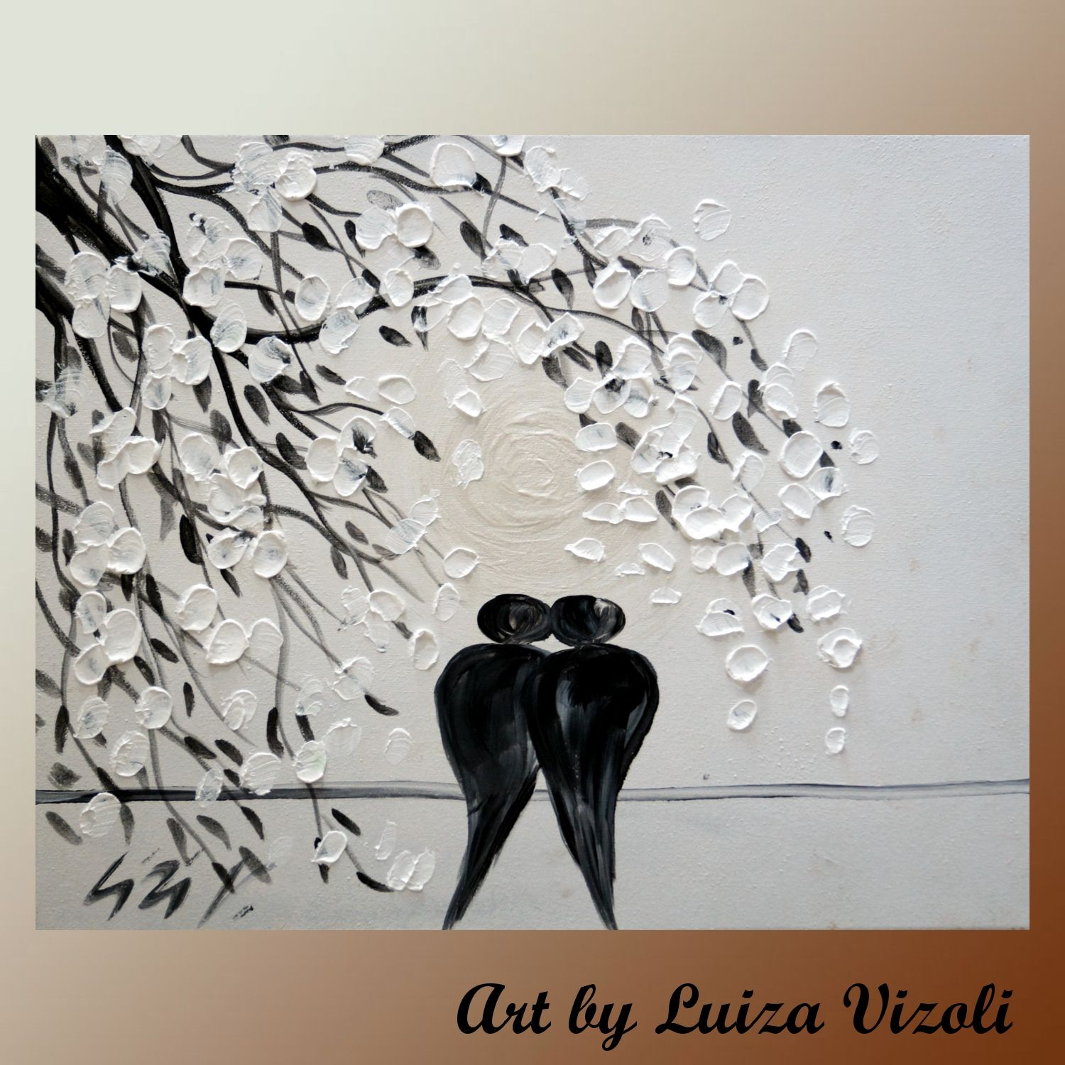 The Wedding Day-painting for sale -Original Modern Fantasy Whimsical ...