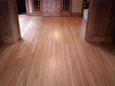 Refinished Red Oak Hardwood Floor In Iowa City Craftsman