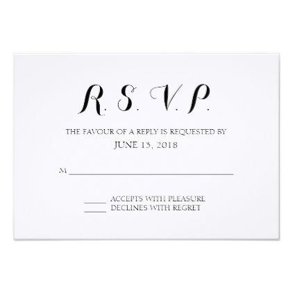 Simple Formal Wedding Rsvp Card Zazzle Com Rsvp Wedding Cards