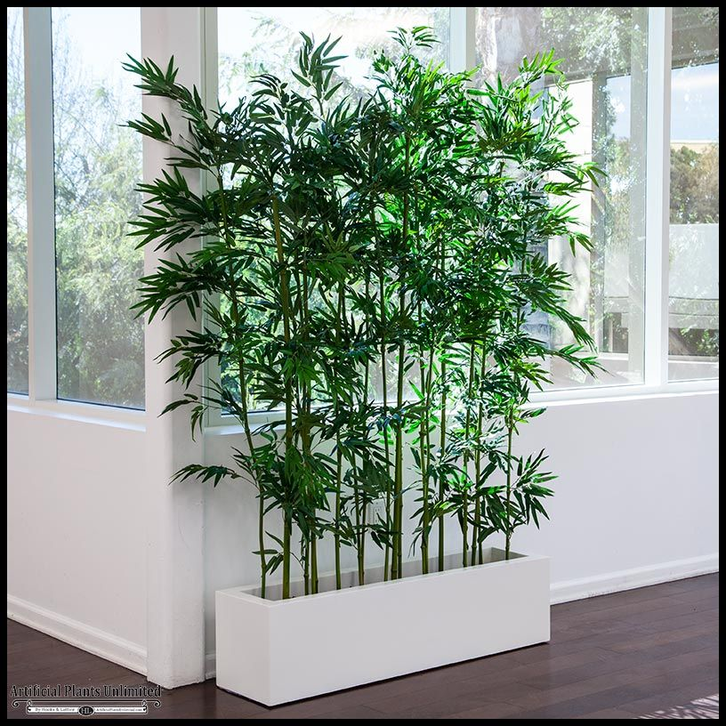 Indoor artificial bamboo container gardening pinterest for Jardin artificial interior