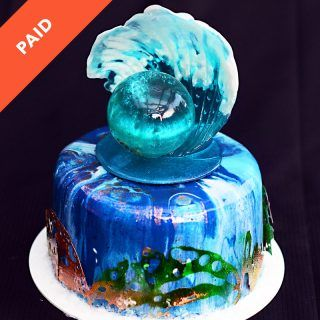 How to make blue mirror glaze for cakes
