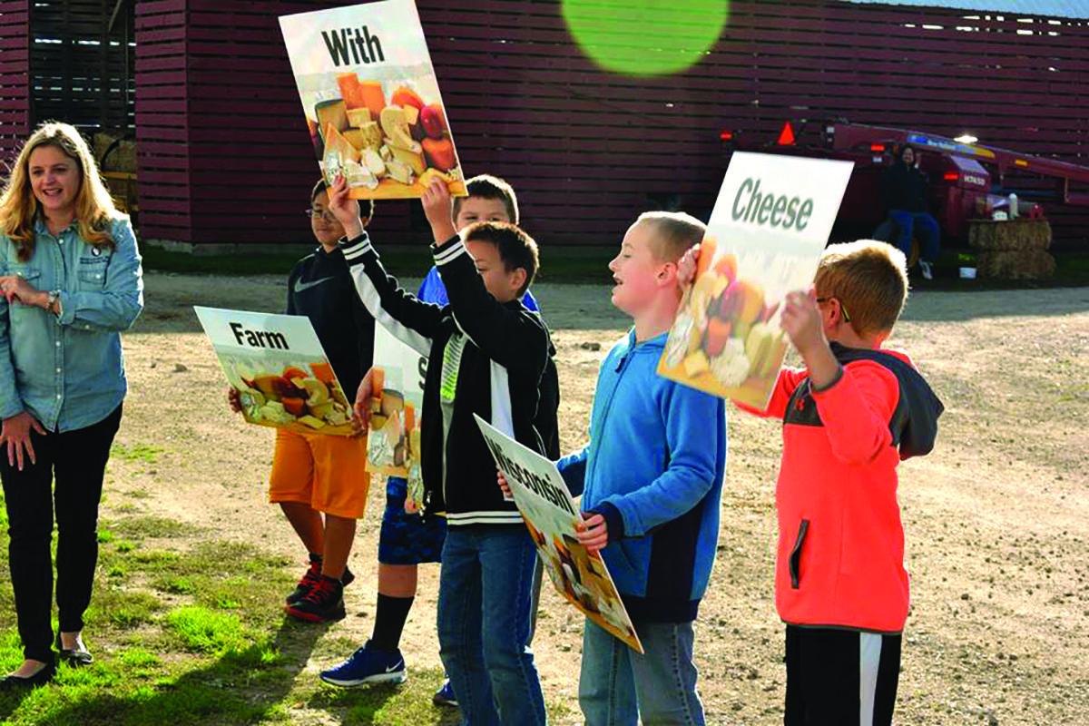 Ag in the classroom tour marquette county borzick