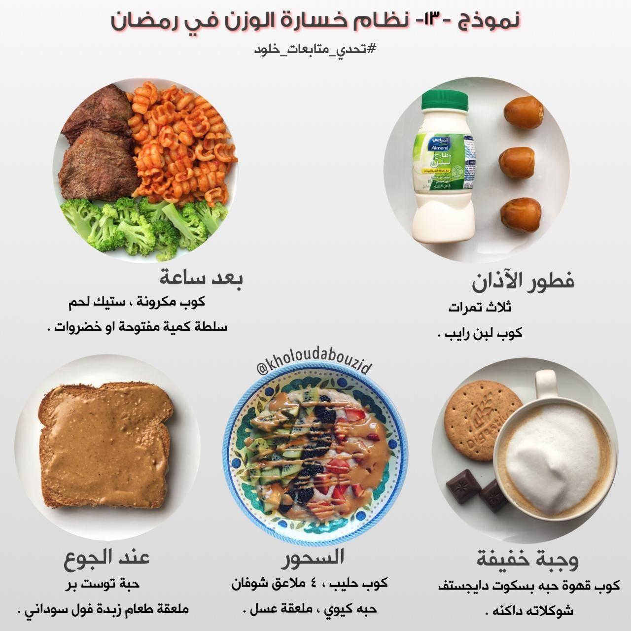 نموذج لرجيم رمضان Health Facts Food Health Fitness Food Healty Food