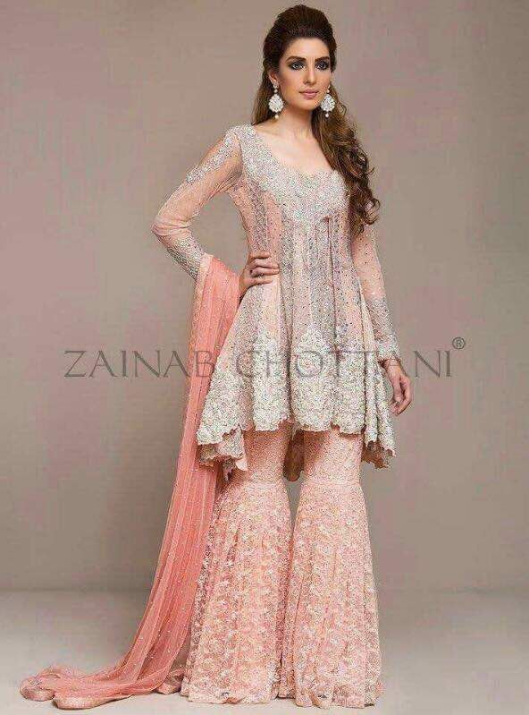 ef81c8c9f4 Zainab Chottani Bridal Chiffon Dress