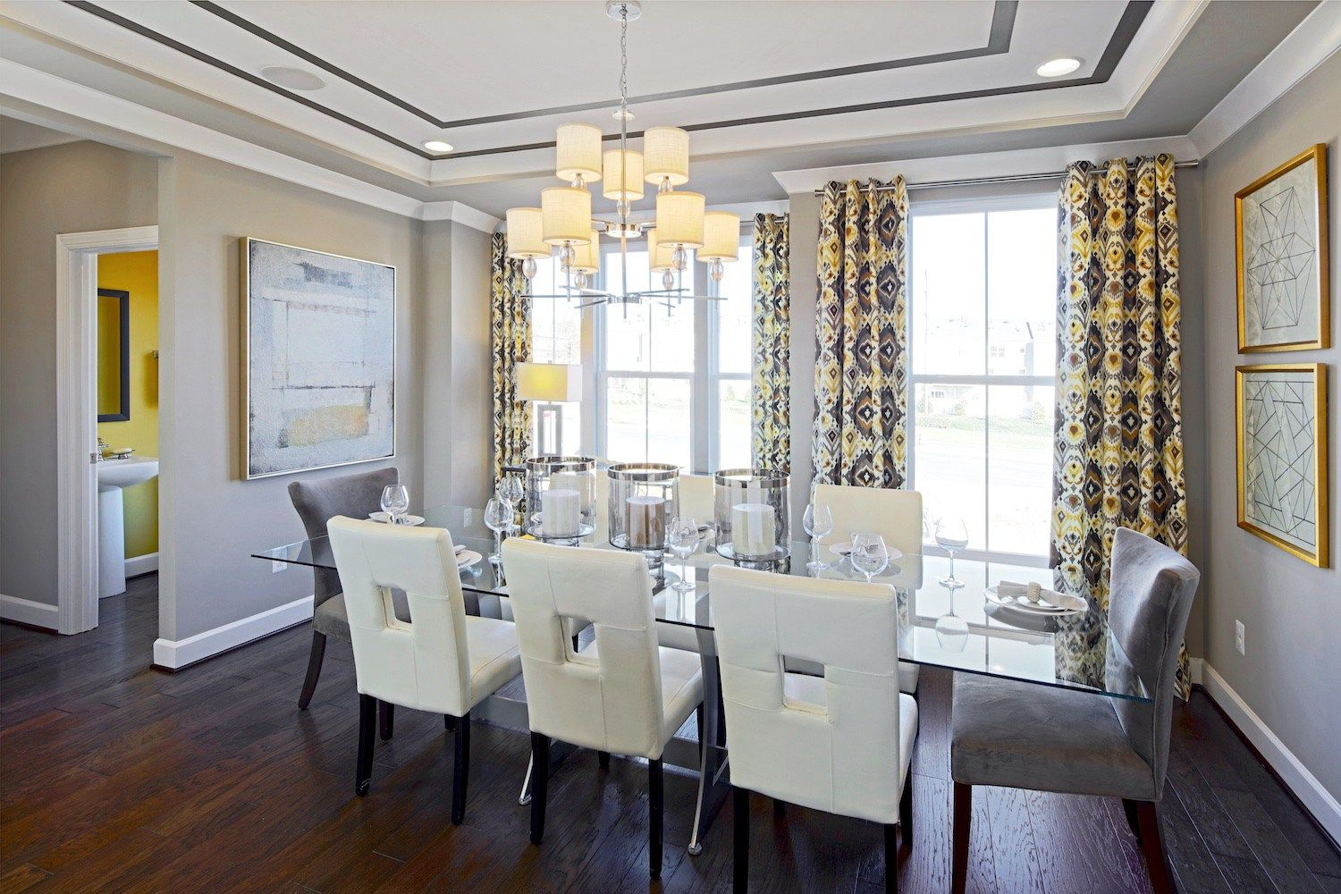 Modern tray ceiling dining room, beautiful modern dining room in the ...