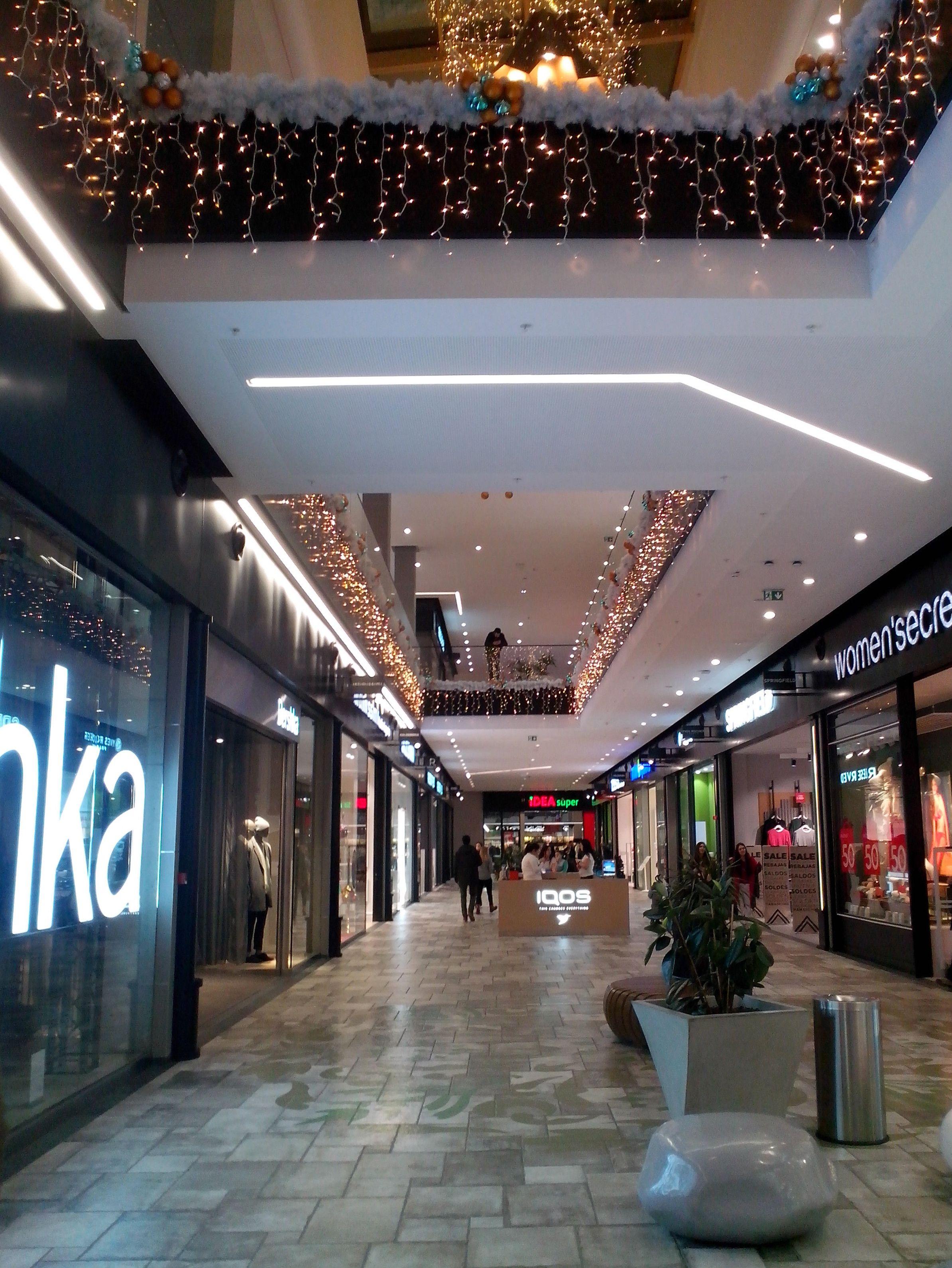 Shopping mall hallway in Belgrade, Serbia. Common area