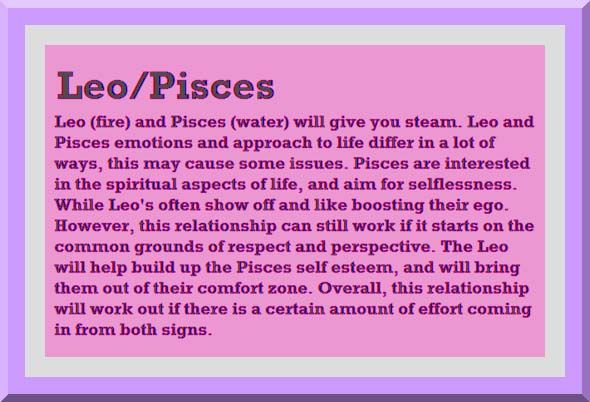 Do Pisces Get Along With Leos
