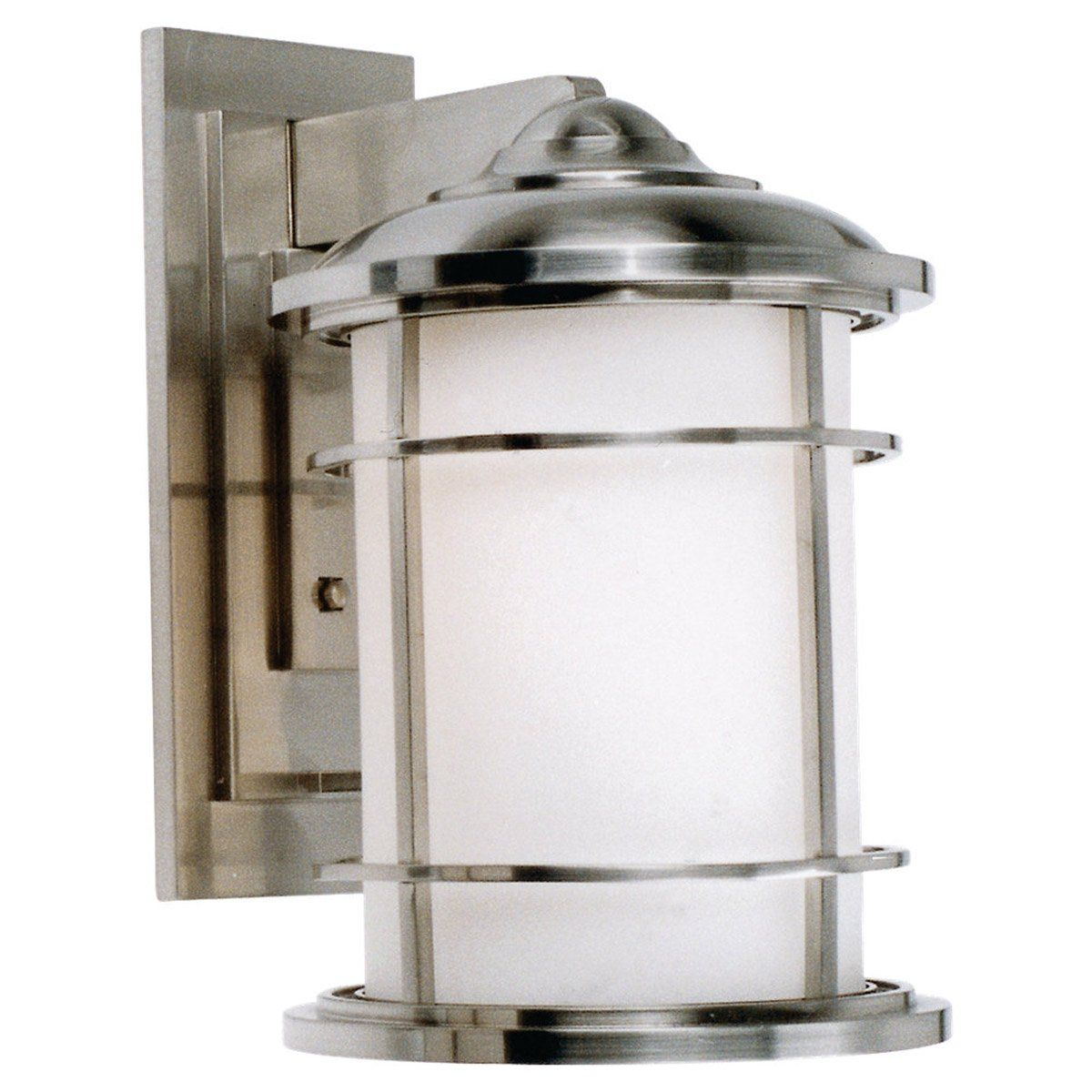 Feiss Ol2202bs Led Lighthouse Led 15 Inch Brushed Steel Outdoor Wall Lantern In Integrated Led With Images Wall Lantern Wall Mounted Light