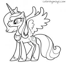 Coloring Images Coloring Image Coloring Pages Coloring Sheets For Free Princess Luna My Little Pony Coloring My Little Pony Printable Horse Coloring Pages