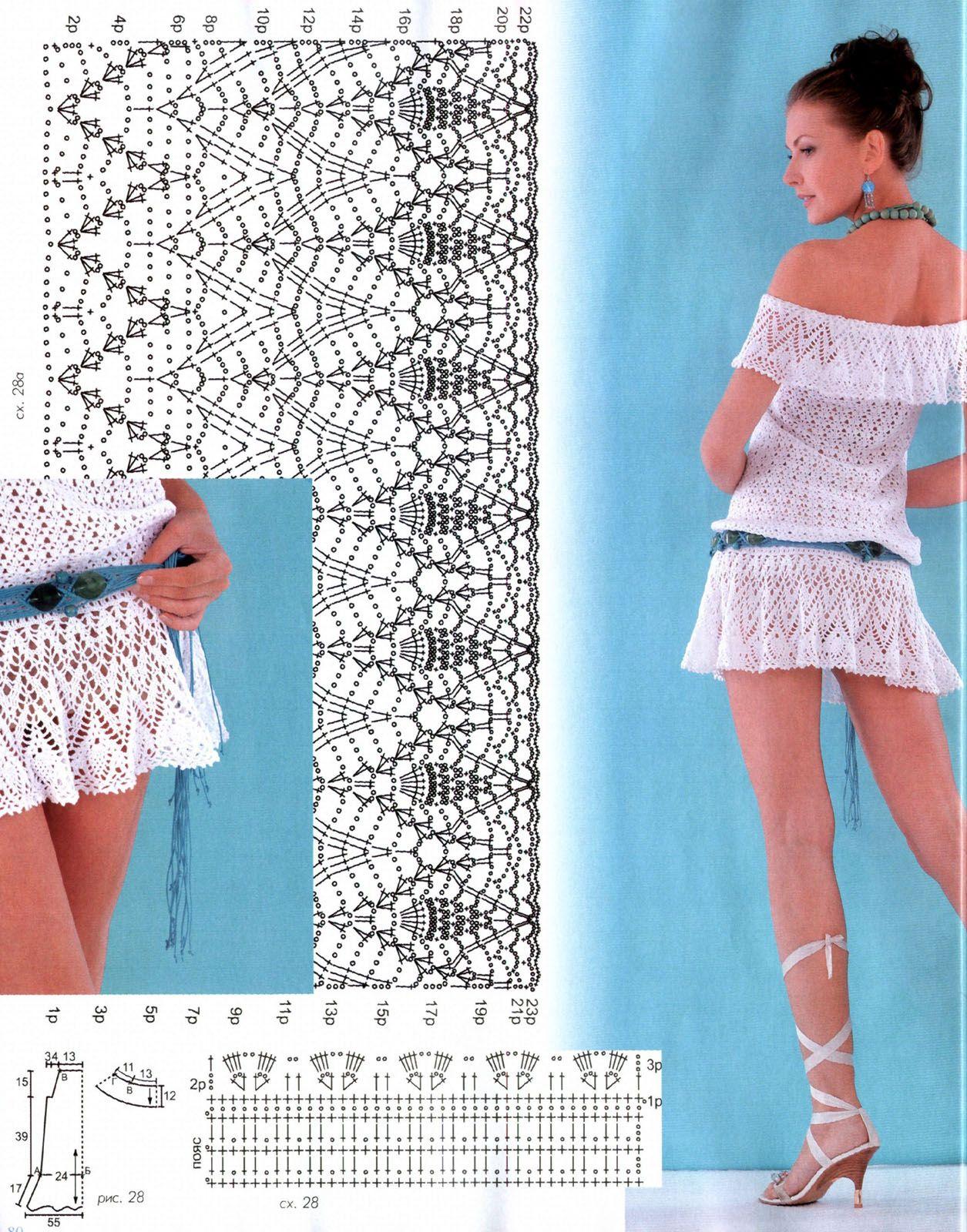 crochet dress | croche | Pinterest | Vistiendo de playa, Blusas y Tejido