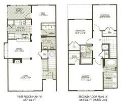Image Result For 2 Story 900 Foot Square Footprint Floor Plan Three Bedroom House Plan Town House Plans New House Plans