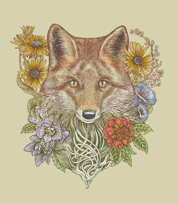 Fox Garden Art Print by Rachel Caldwell | Society6