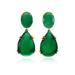 73cab6b61 Green Onyx Drop Earrings by Bounkit.....The Angelina effect.... | It ...