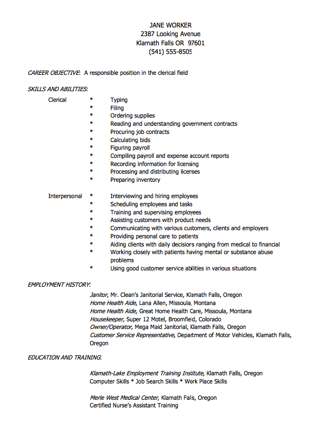 Janitor Resume Sample Alluring Resume For Home Health Aide  Httpresumesdesignresumefor .