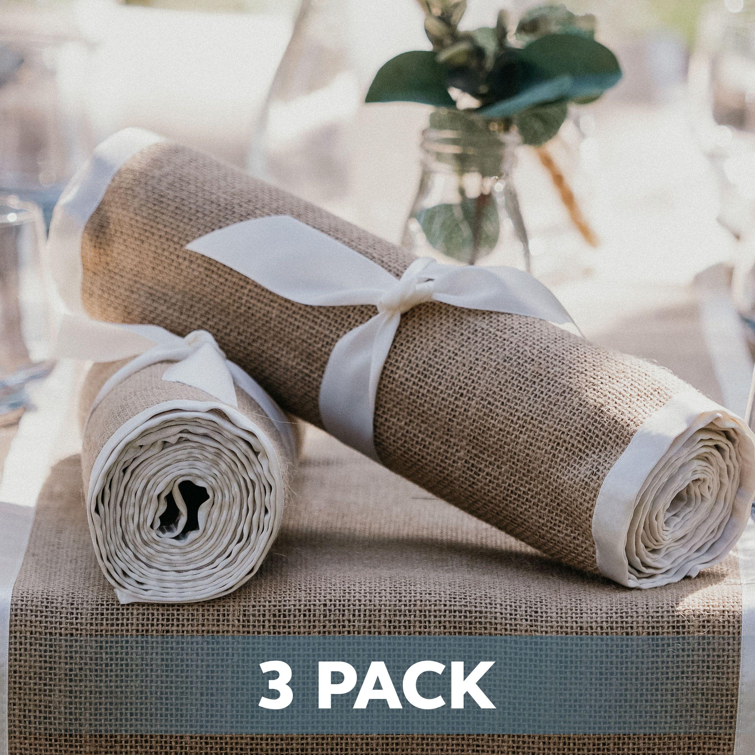3 X Pack Burlap Table Runner Natural Burlap Fabric
