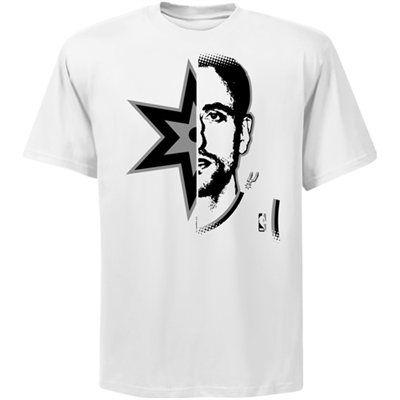 innovative design 2bae4 cb41b Manu Ginobili San Antonio Spurs Logo Man T-Shirt   NBA Gear ...